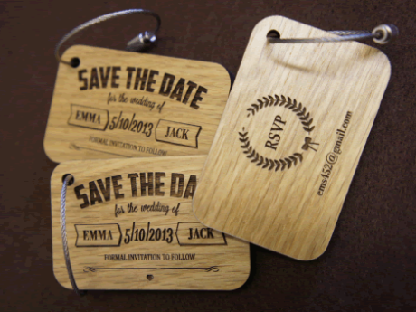 Plywood Wedding Invitations